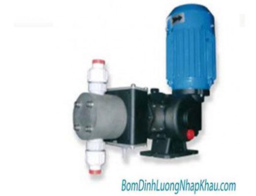 Máy bơm định lượng cơ khí Injecta TM05050A kiểu màng 1 pha PVC