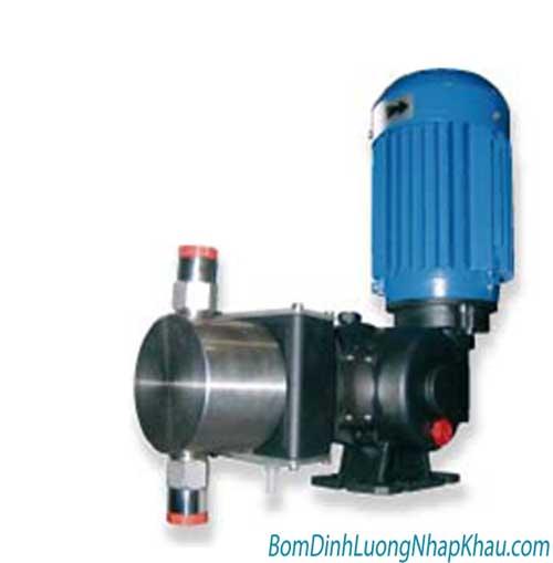 Máy bơm định lượng cơ khí Injecta TM05050A kiểu màng 3 pha SS.316